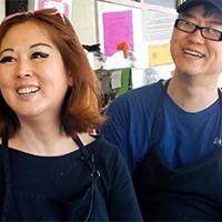 Hannah and Alex Yook, owners of Alex's Giant Burger